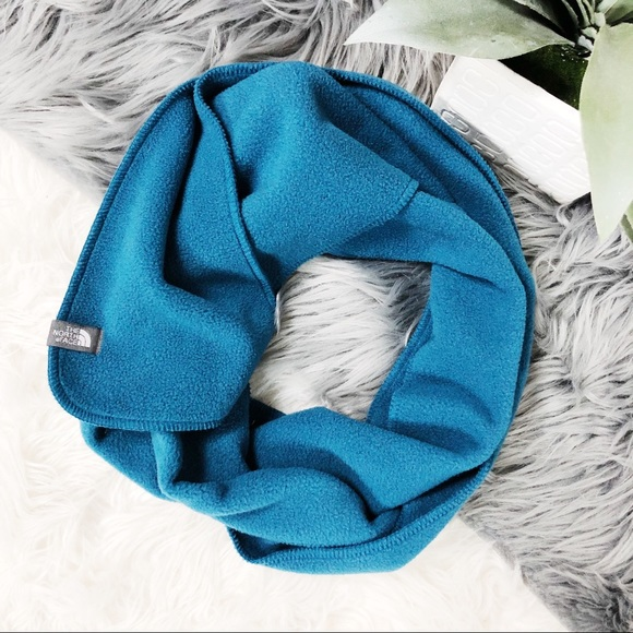 Blue Solid Fleece Scarf